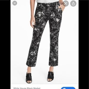 White House black market floral flare pants